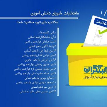 کاندید های شورای دانش آموزی