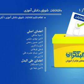 نتایج انتخابات شورای دانش آموزی
